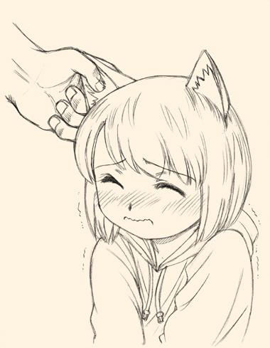 犬耳少女、弱点は耳。